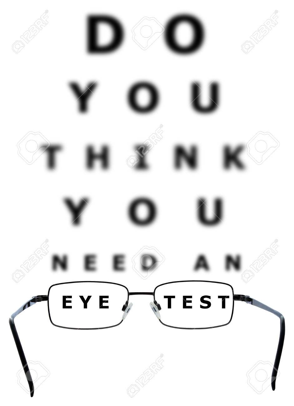 Eye examination chart with all the letters blurred apart from eye examination chart with all the letters blurred apart from the words eye and test through nvjuhfo Choice Image