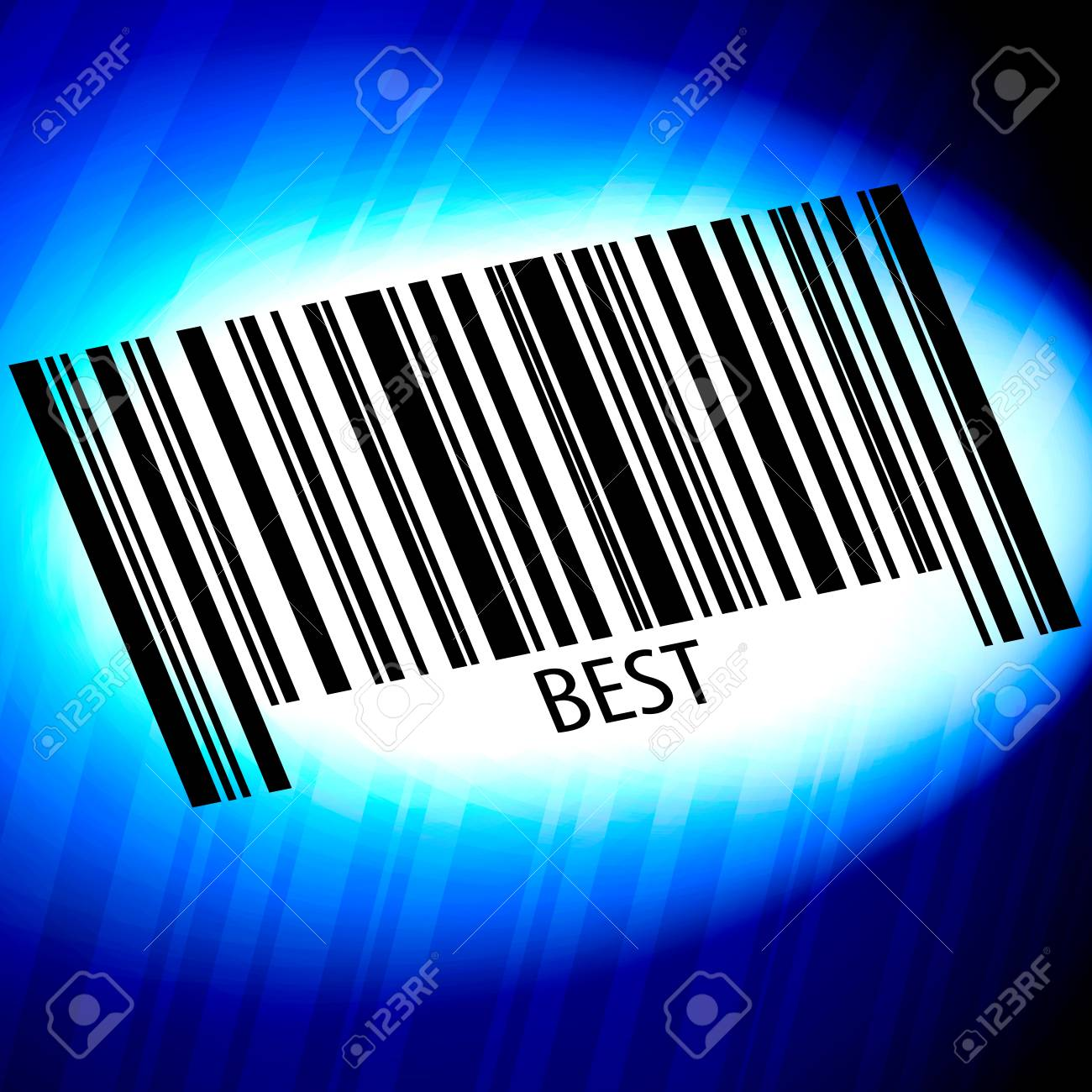 Best - barcode with blue Background