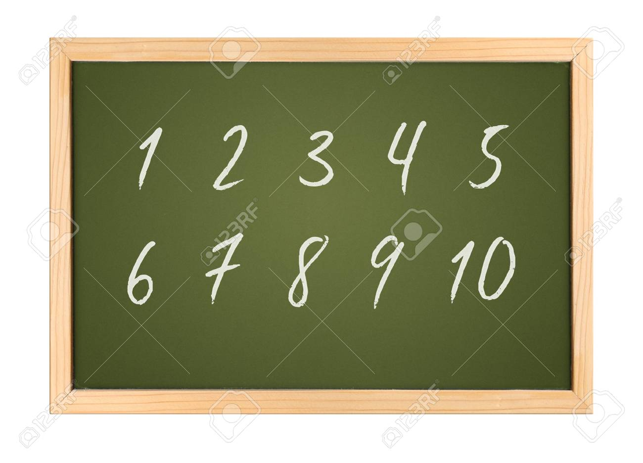A photography of a small chalk board numbers Stock Photo - 3454607