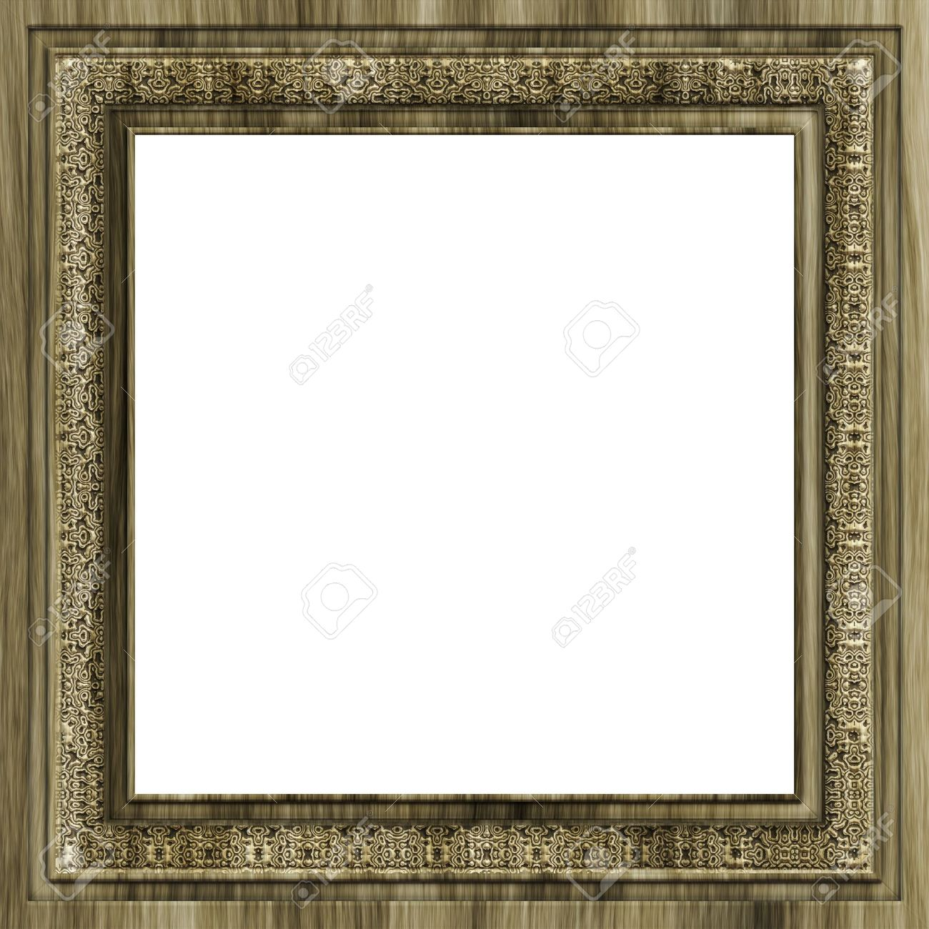 An Illustration Of A Square Wooden Frame Stock Photo, Picture And ...