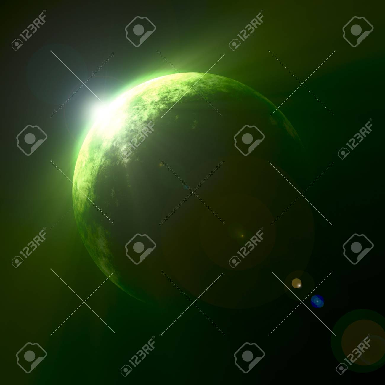An illustration of a nice green planet Stock Illustration - 4627734