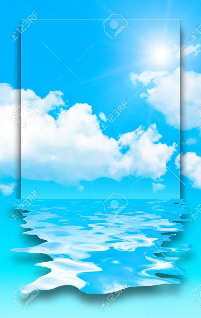 blue sky water design Stock Photo - 4946725