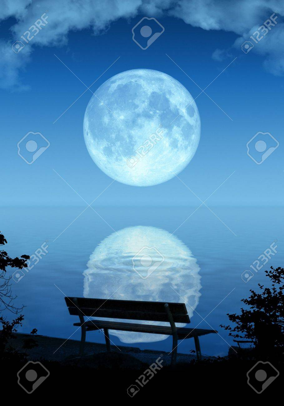 An illustration of a nice full moon Stock Illustration - 5540656
