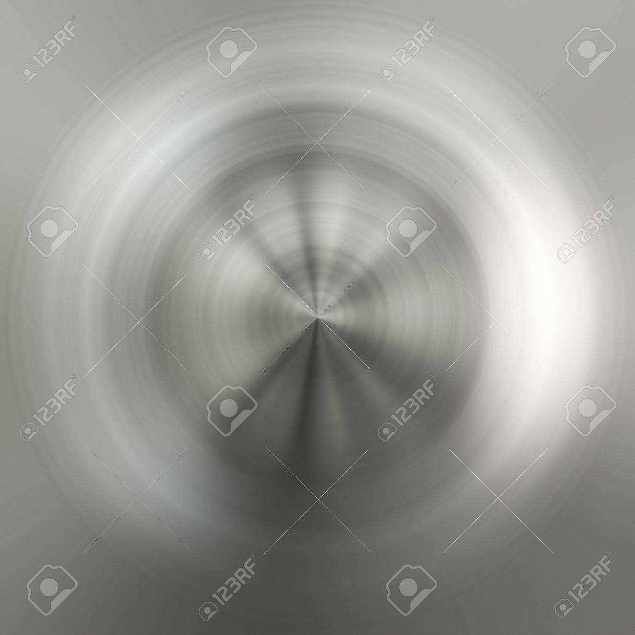 An illustration of a brushed circular metal texture Stock Illustration - 6111697