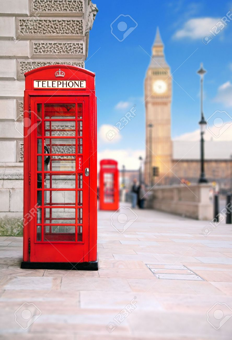 A photography of a red phone box in London UK Stock Photo - 6559540