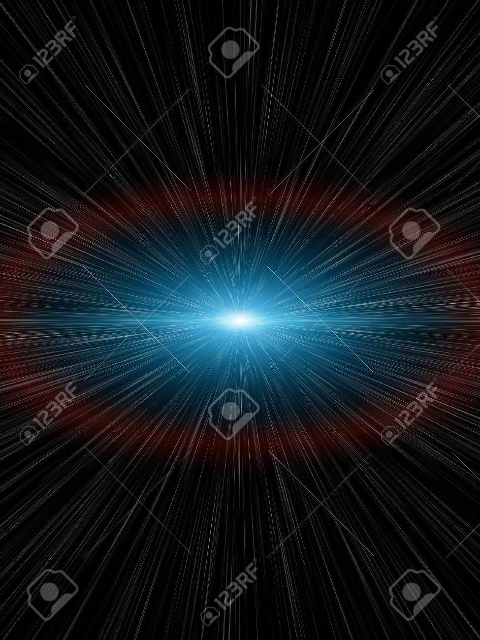 An illustration of a nice light speed background Stock Illustration - 6902894