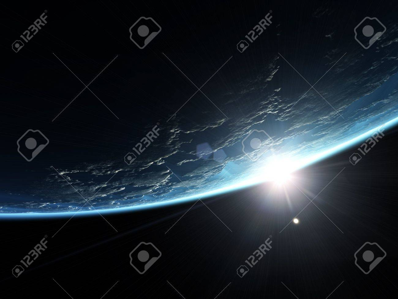 An illustration of a nice deep space planet background Stock Illustration - 6912987