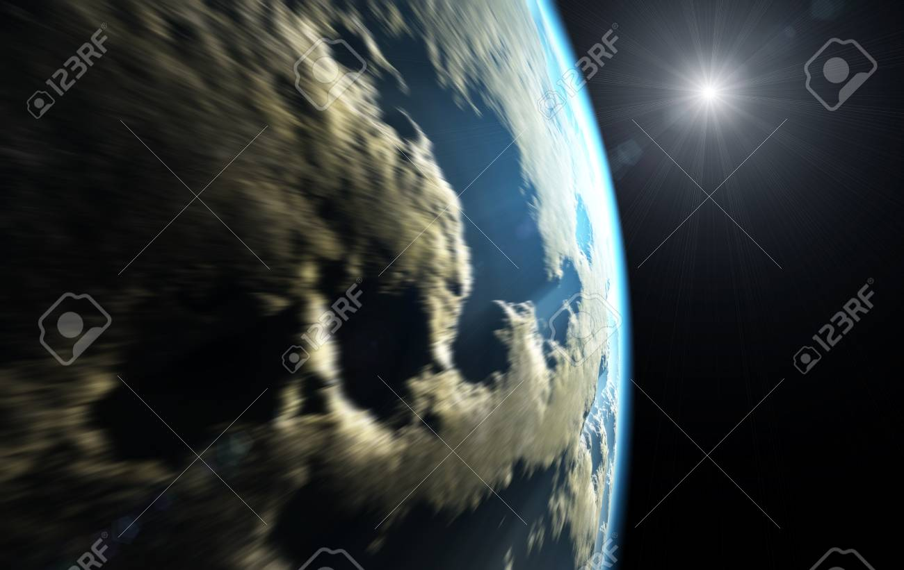An illustration of a nice deep space planet speed Stock Photo - 6913280