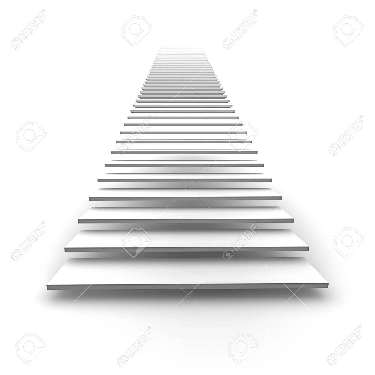 An image of a white stairway to heaven Stock Photo - 7072855