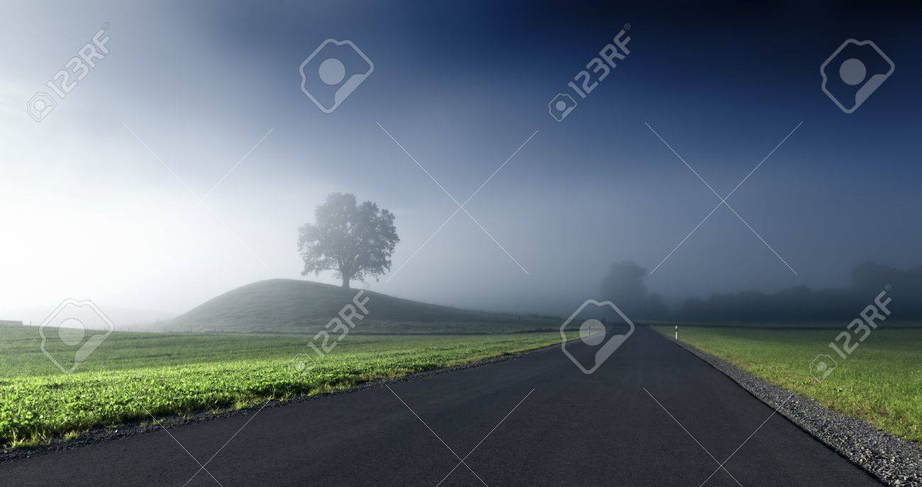 An image of a beautiful landscape with fog in bavaria germany Stock Photo - 7806378