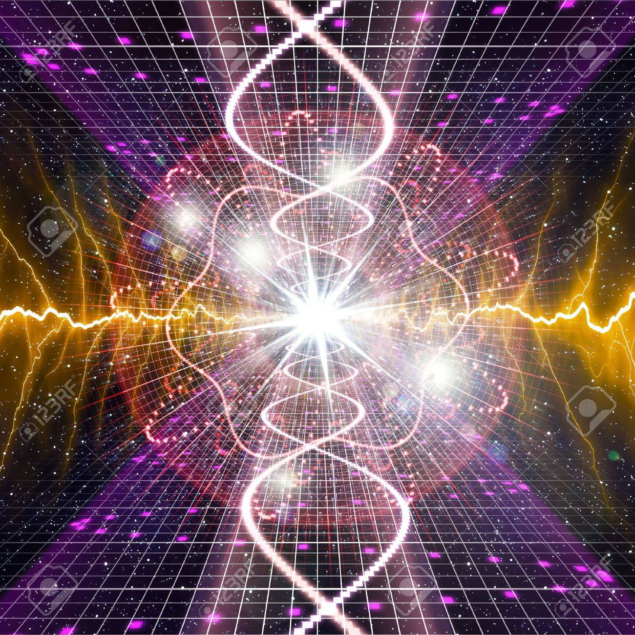 An Image Of A Nice Lights Space Music Background Stock Photo ...