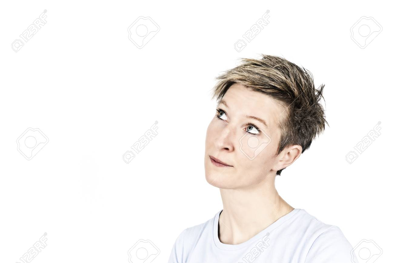 An image of a nice thinking women Stock Photo - 8923515