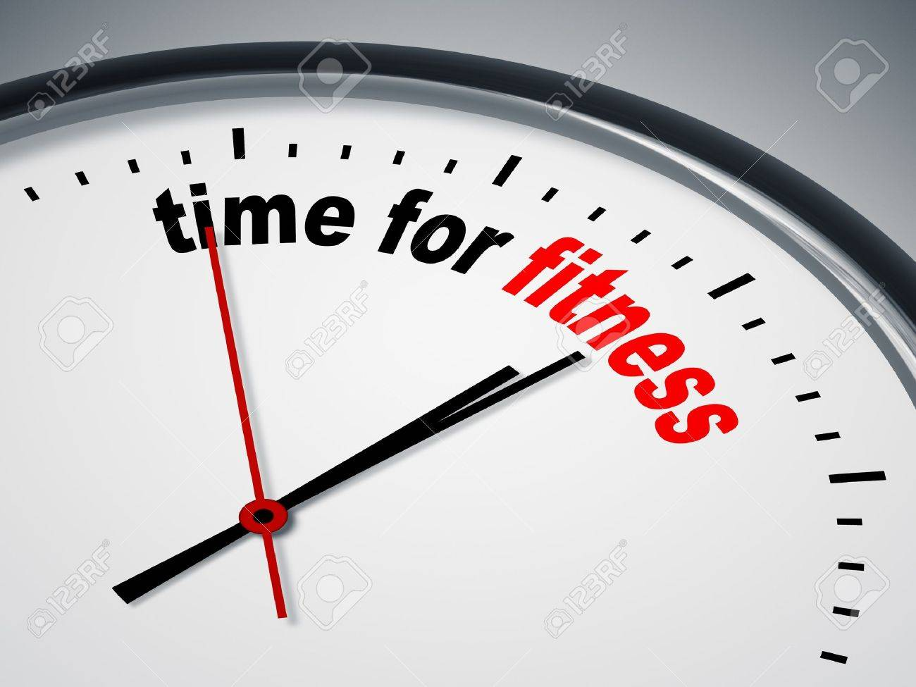 An image of a nice clock with time for fitness Stock Photo - 9749964