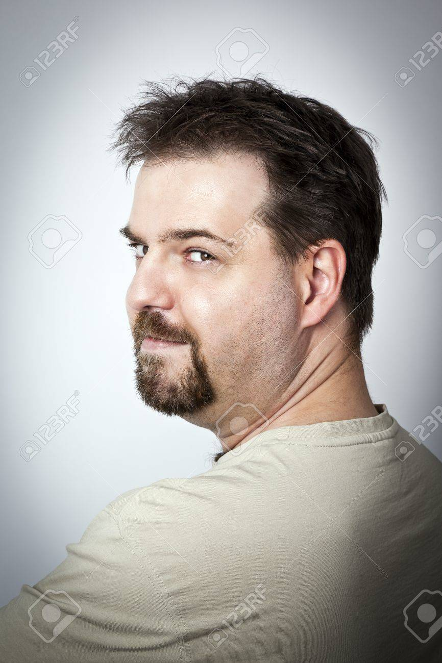 A Handsome Young Man With A Goatee Beard Stock Photo Picture And