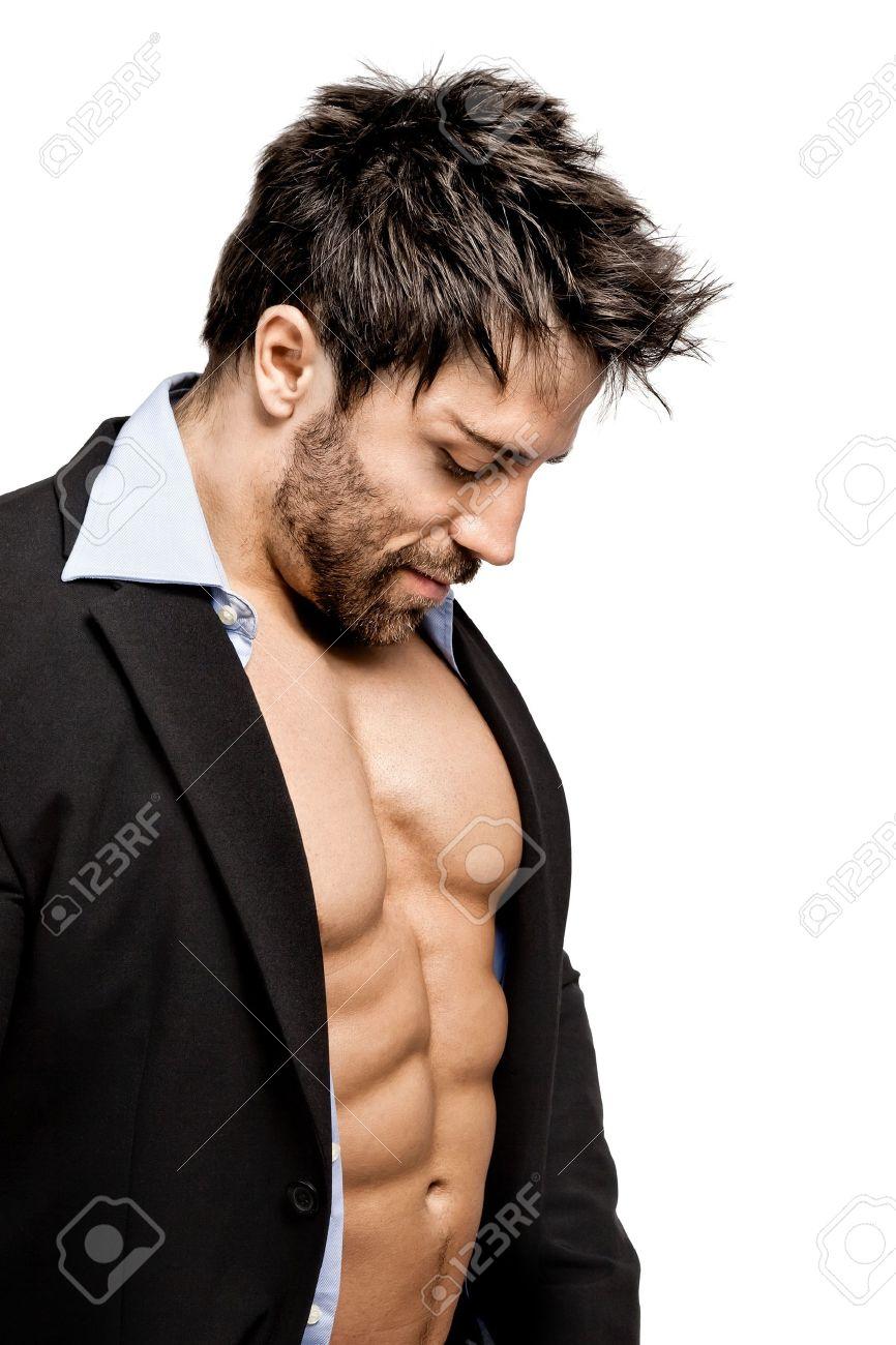 Homme Costume Un Musclé D'affaires Sportif En Jeune Beau eWQdxorCB