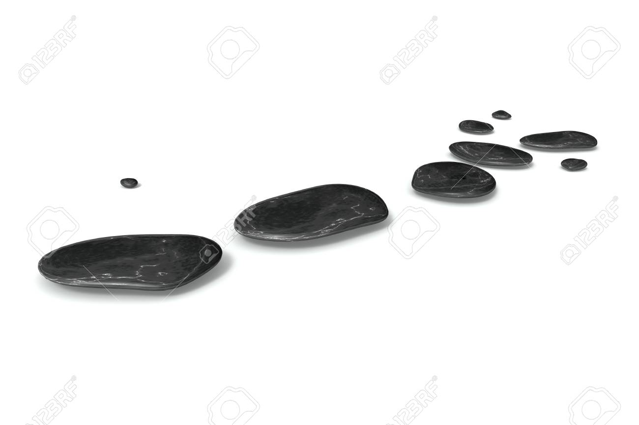 An image of some black pebbles on white baclground Stock Photo - 13162747