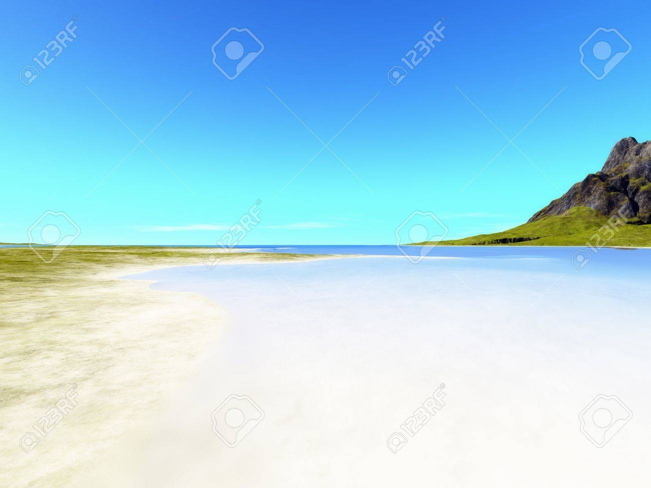 an image of a nice beach scenery background stock photo, picture and