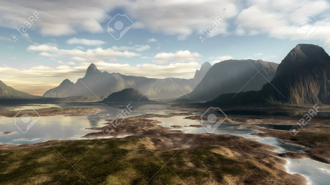 An image of a nice fantasy landscape Stock Photo - 13283380