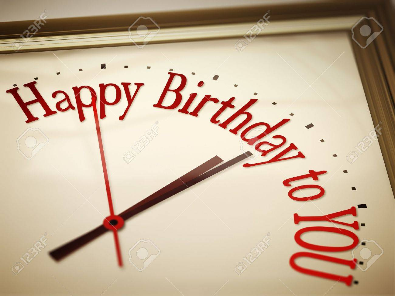 A nice vintage clock with happy birthday to you Stock Photo - 15480684