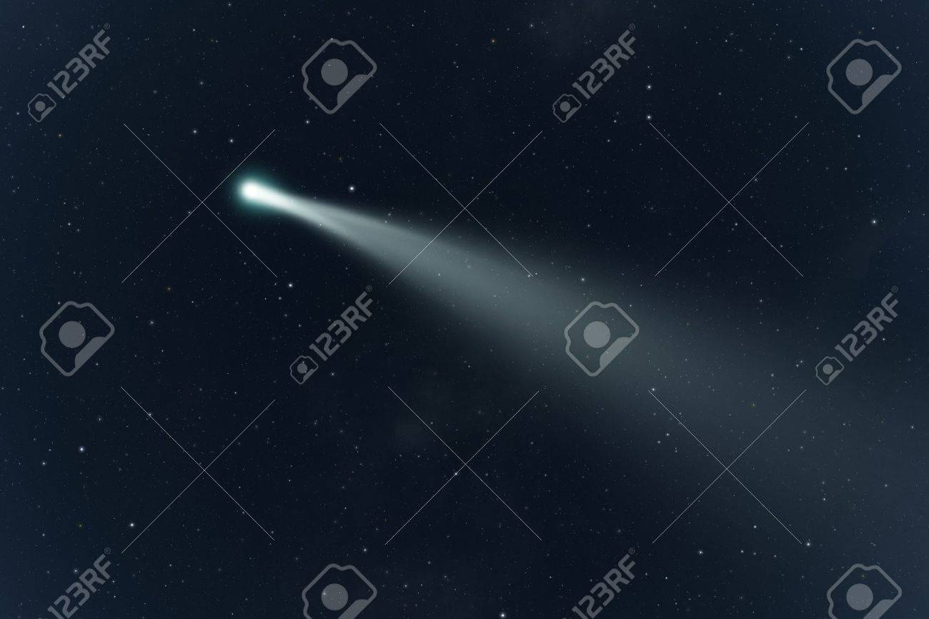 An image of a comet in the deep space Stock Photo - 17842853