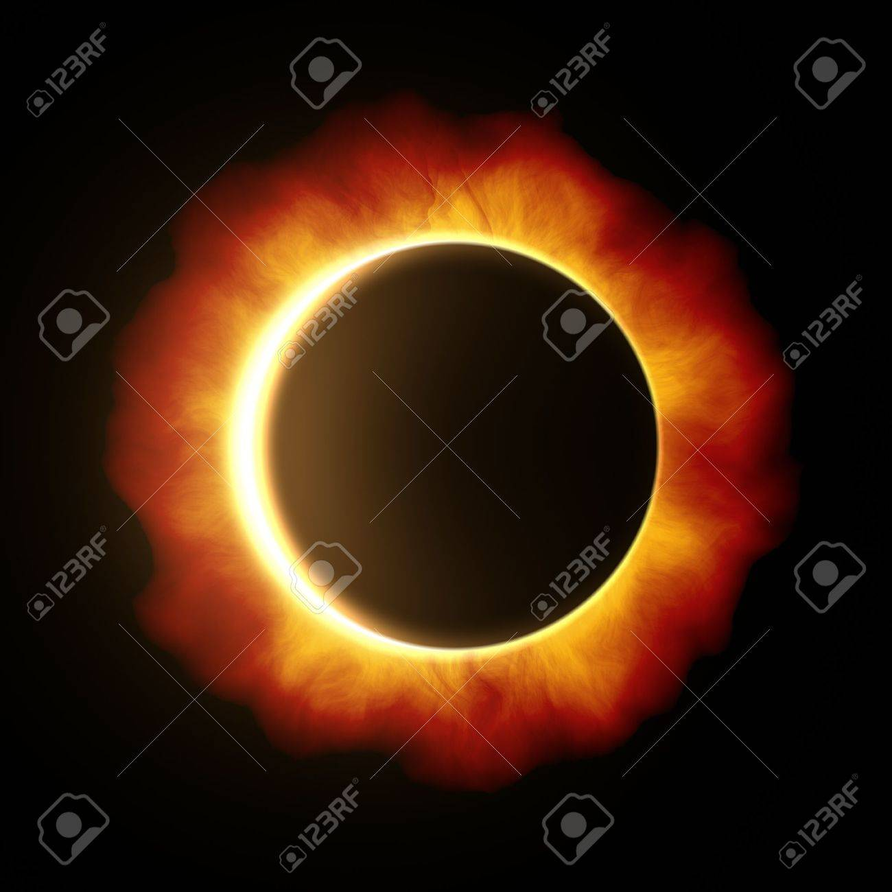 An image of a beautiful sun eclipse Stock Photo - 19469673