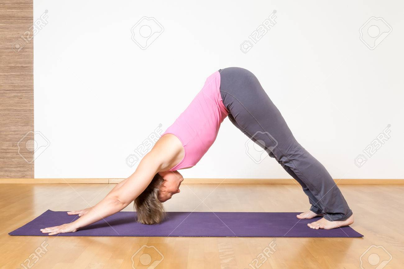 An image of a woman doing yoga Stock Photo - 25308445