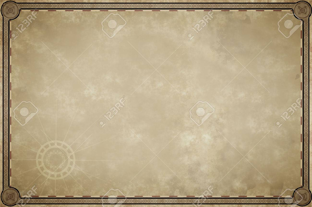 An Image Of Old Map Parchment Blank Stock Photo