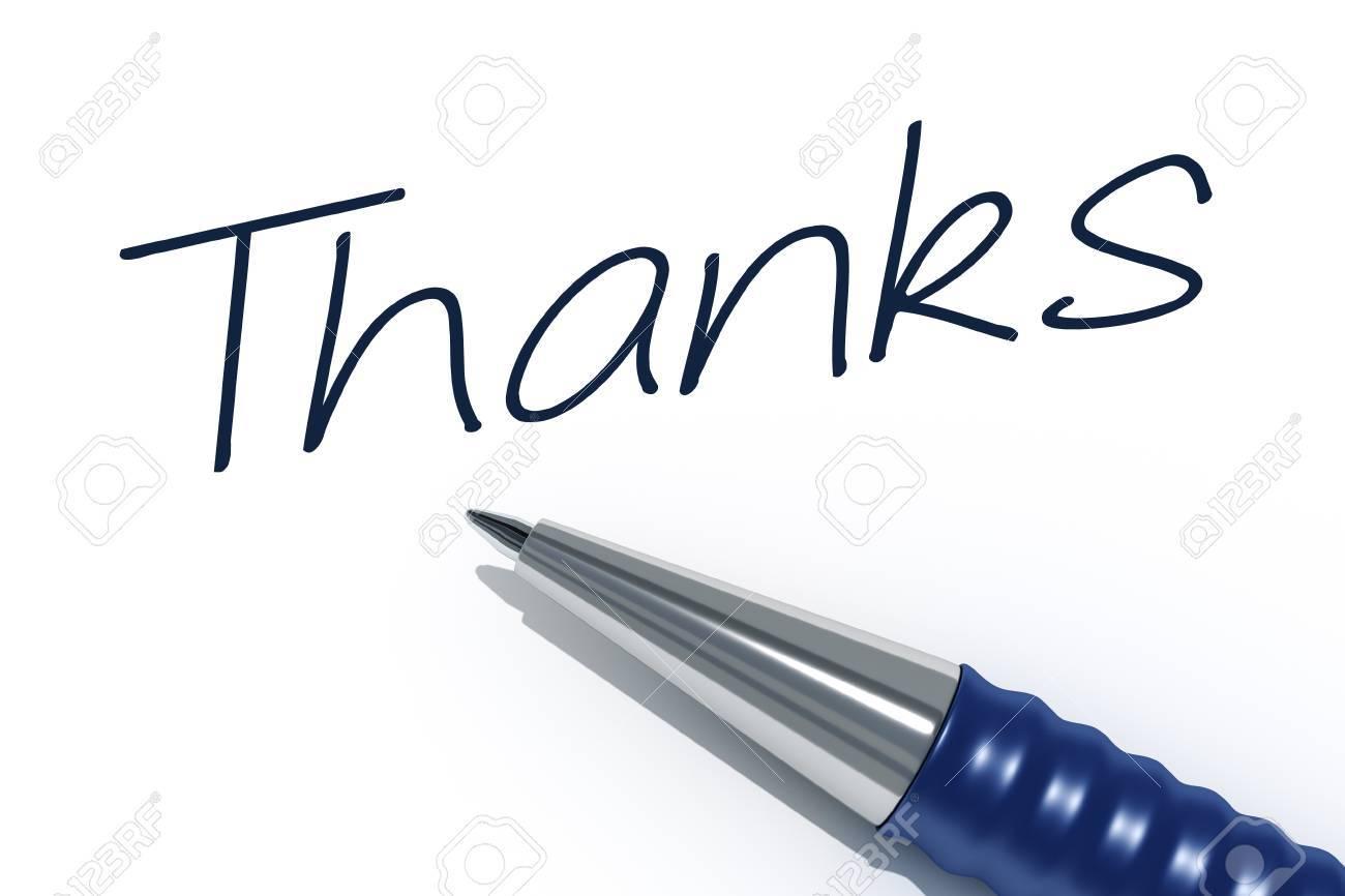Foto de archivo - Una imagen de un lápiz con el mensaje gracias