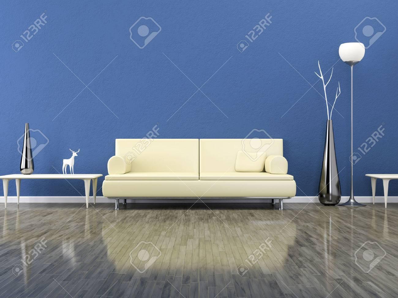 Une Chambre Verte Avec Un Canapé Et De Fond Pour Votre Propre ...