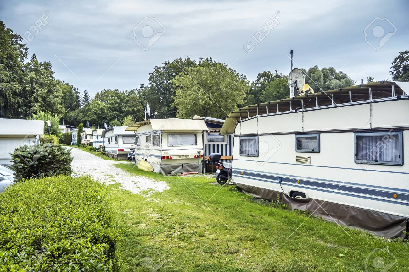 0c09045a68 An image of a campsite at Starnberg Lake Bavaria Germany Stock Photo -  61030089