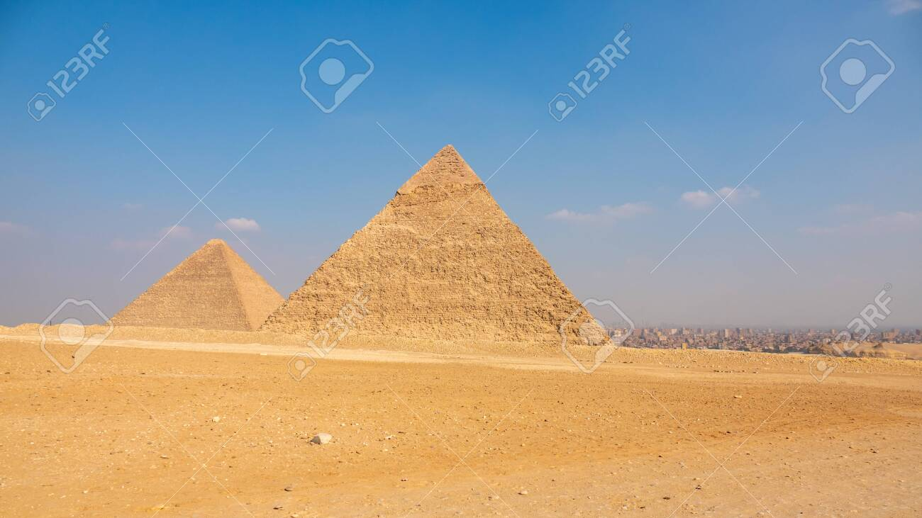 An image of the Pyramids at Giza Cairo Egypt - 123922857