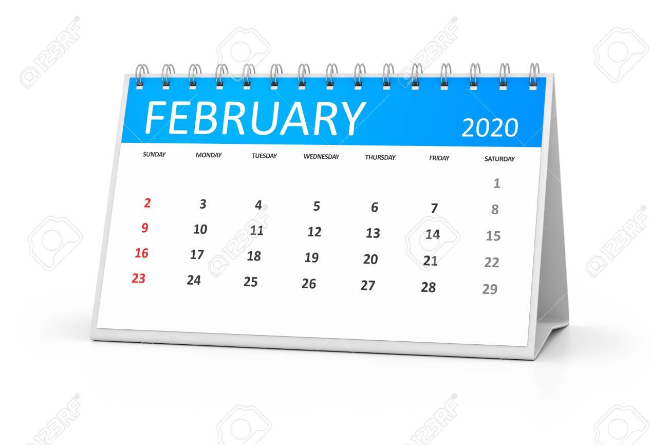 February Events 2020.Stock Illustration