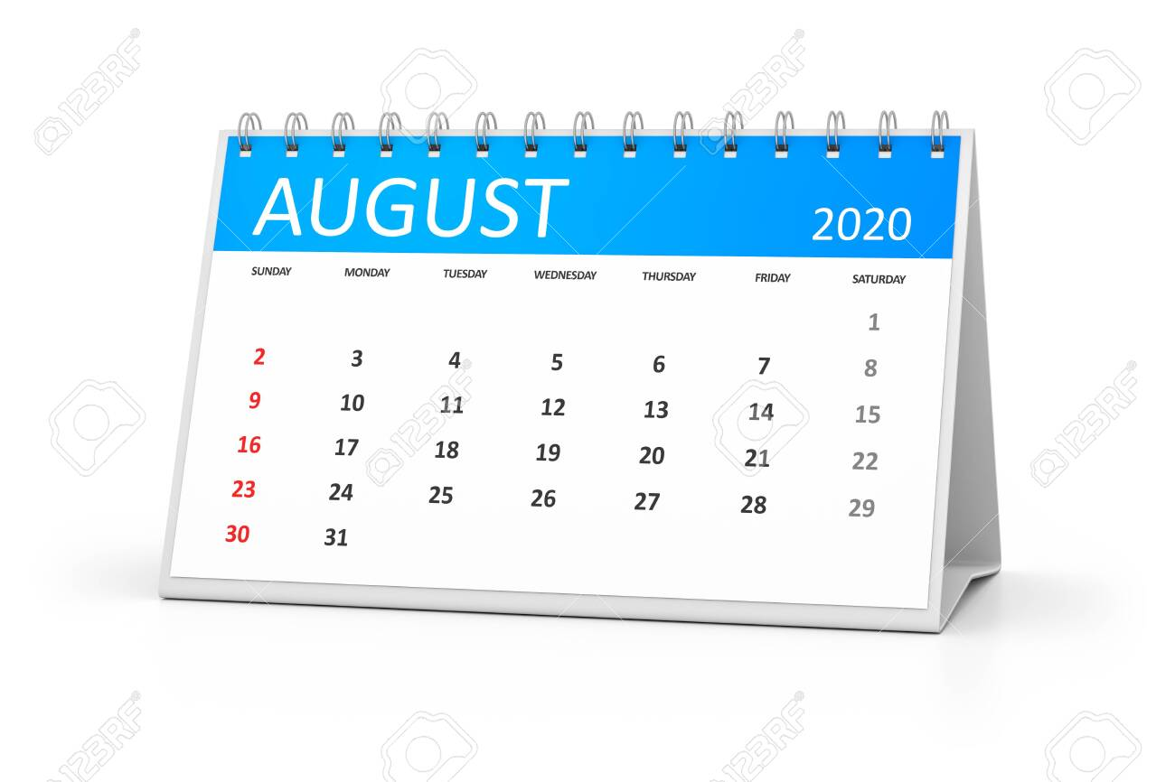 August 4 2020 Events.Stock Illustration