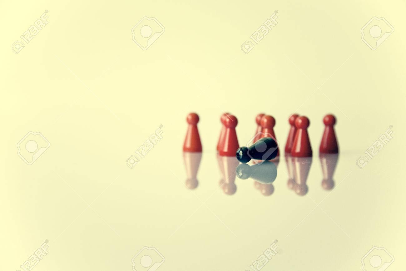 stereotype metapher leadership or exclusion Standard-Bild - 45558423