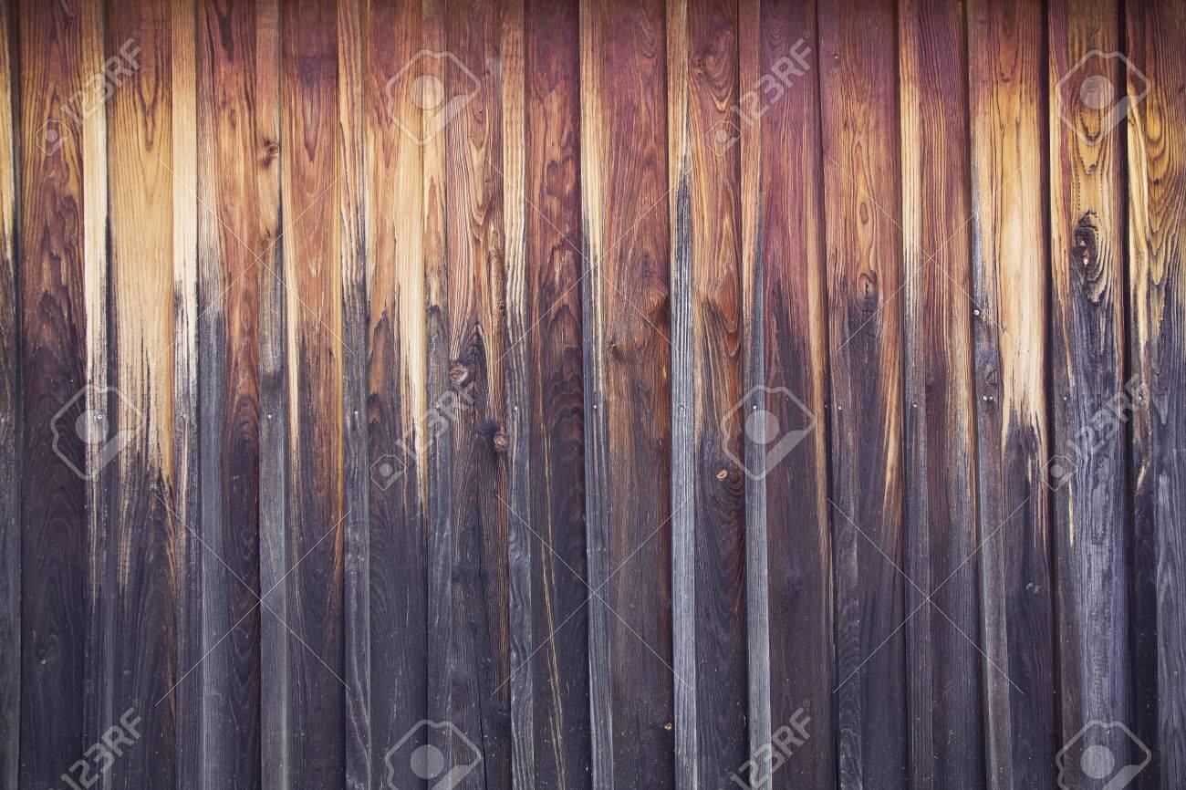 dark brown weathered wood floor Standard-Bild - 64713106