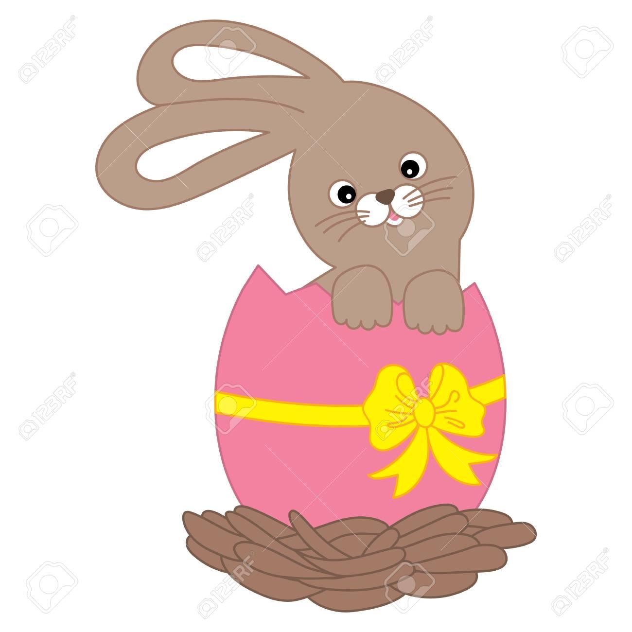 Clip Art Easter Bunny Eggs