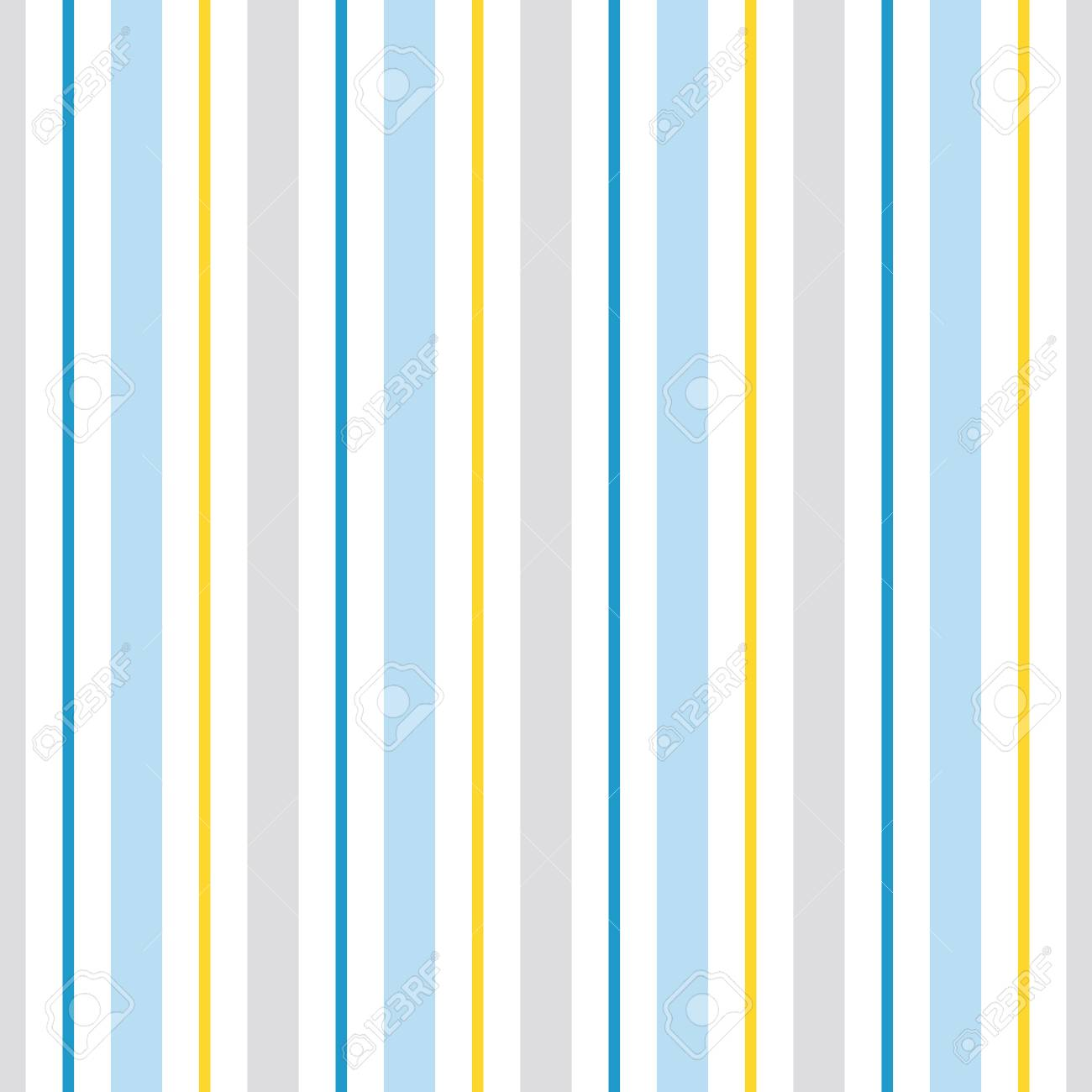 Patrón Transparente De Vector Con Rayas Azules Amarillas Y Grises ...
