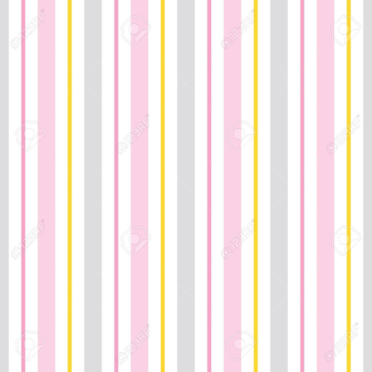 Patrón Transparente De Vector Con Rayas De Color Rosa, Amarillo Y ...