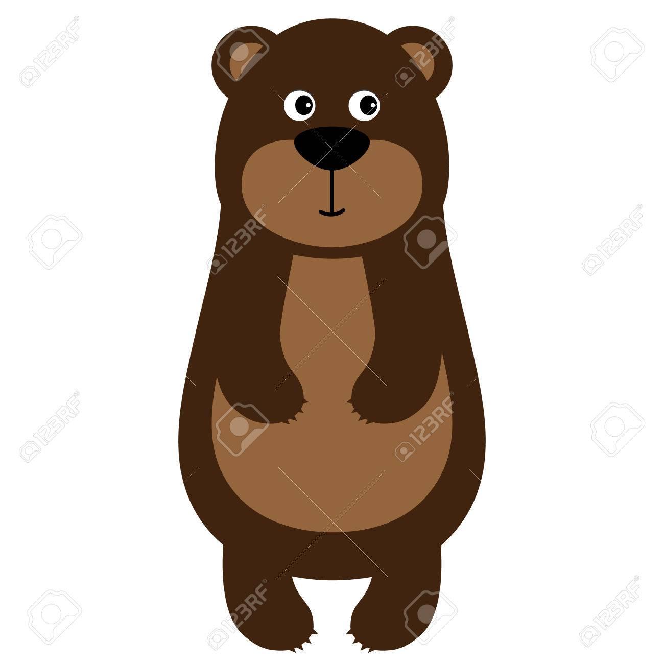 A Vector Cute Cartoon Baby Bear Clipart Vector Illustration Royalty Free Cliparts Vectors And Stock Illustration Image 81053562