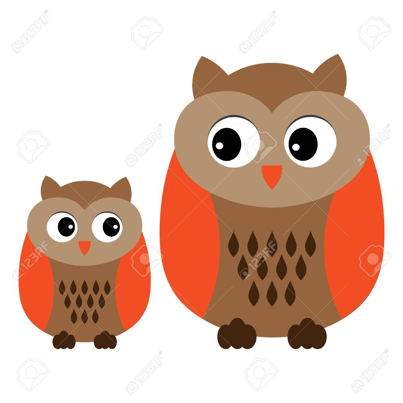 vector cute cartoon owls owls clipart baby owl vector illustration rh 123rf com cute baby owl cartoon cute baby owl cartoon