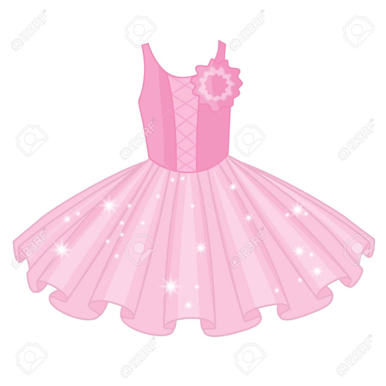 bd4df4b78509 Vector - Vector soft pink tutu dress. Vector ballerina s tutu dresses. Ballet  dress vector illustration