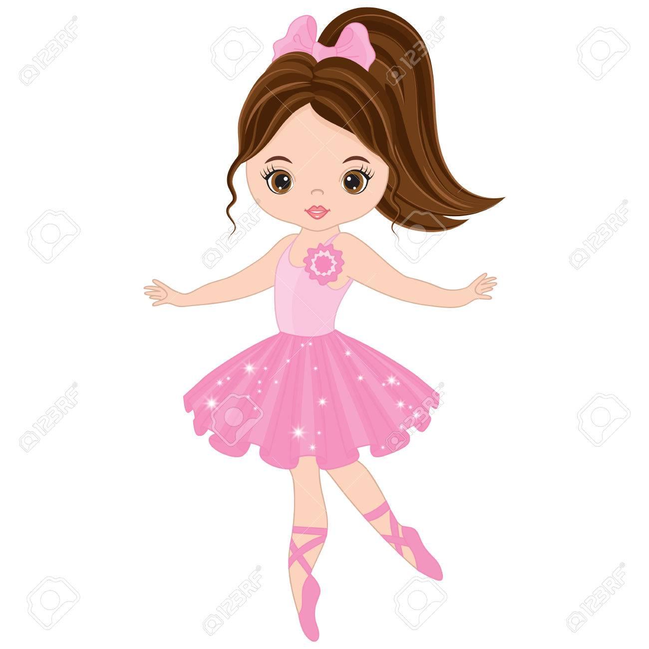 vector cute little ballerina dancing vector ballerina girl in rh 123rf com ballerina vector art ballerina victor