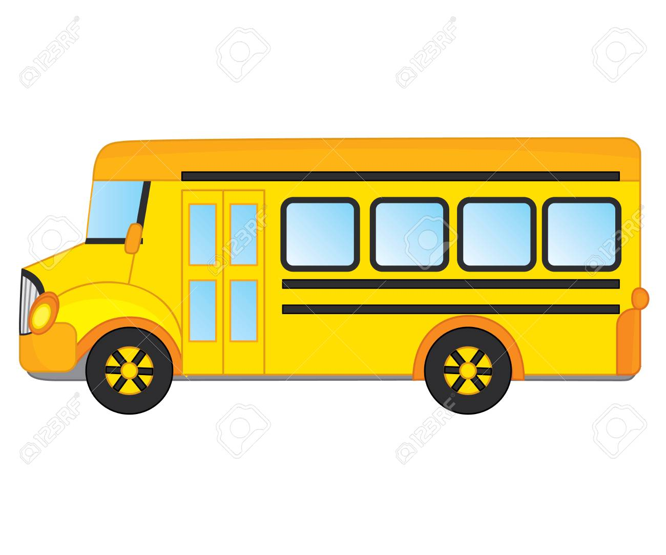 vector school bus in side view school bus vector illustration rh 123rf com school bus vector ai school bus vector illustration