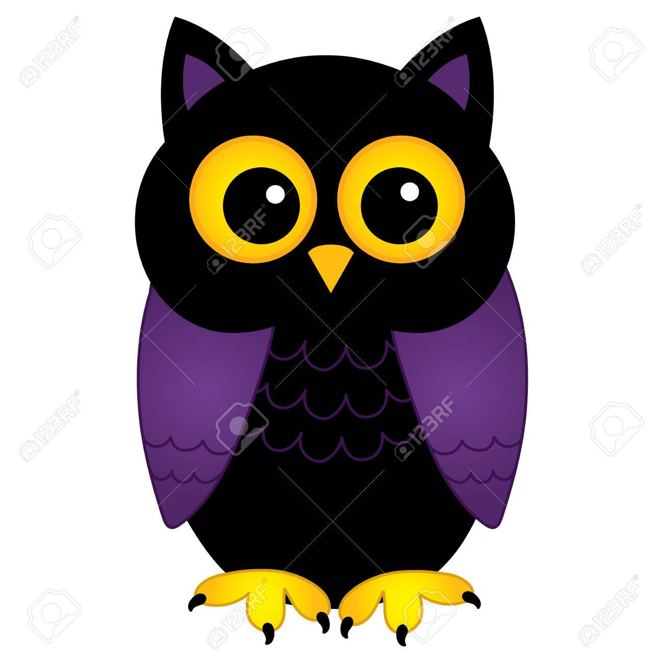 Vector Cute Halloween Owl Illustration Royalty