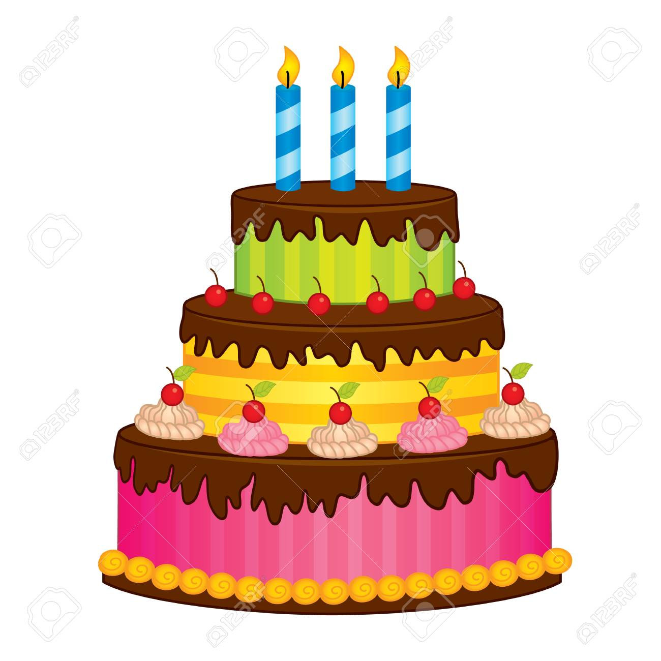 vector birthday cake with candles vector cake decorated with rh 123rf com cake vector freepik cake vector free