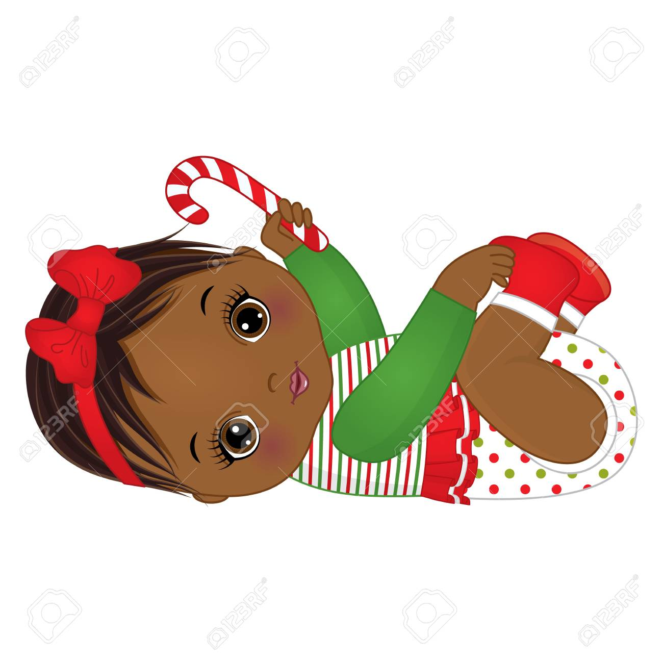 152a34112227 Vector cute little girl wearing Christmas clothes. Stock Vector - 88465771