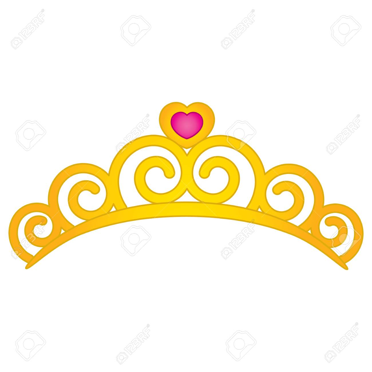 vector tiara with heart emblem tiara vector illustration royalty rh 123rf com tiara vector art tiara vector image