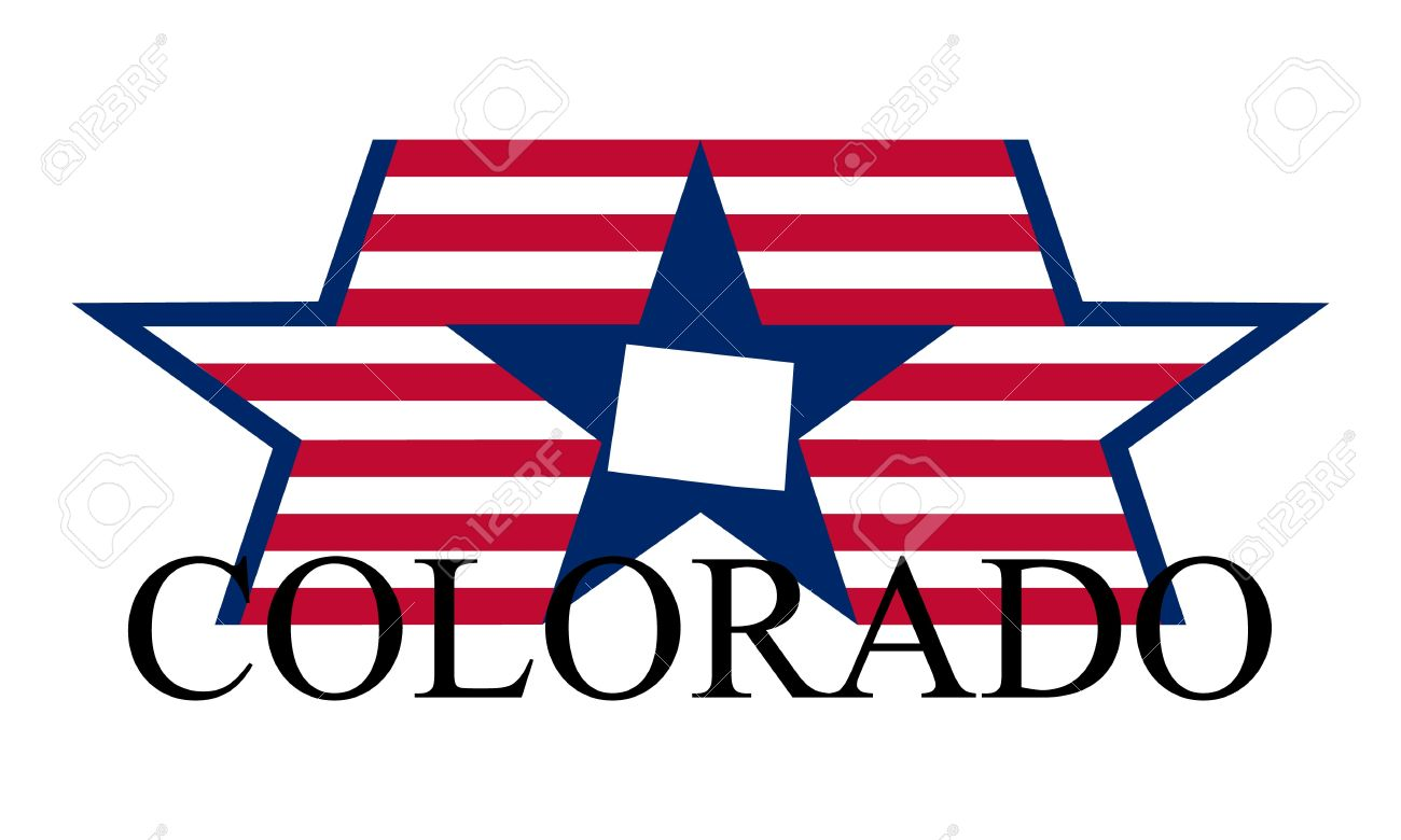 Colorado State Map, Flag, Seal And Name. Stock Vector   12288301