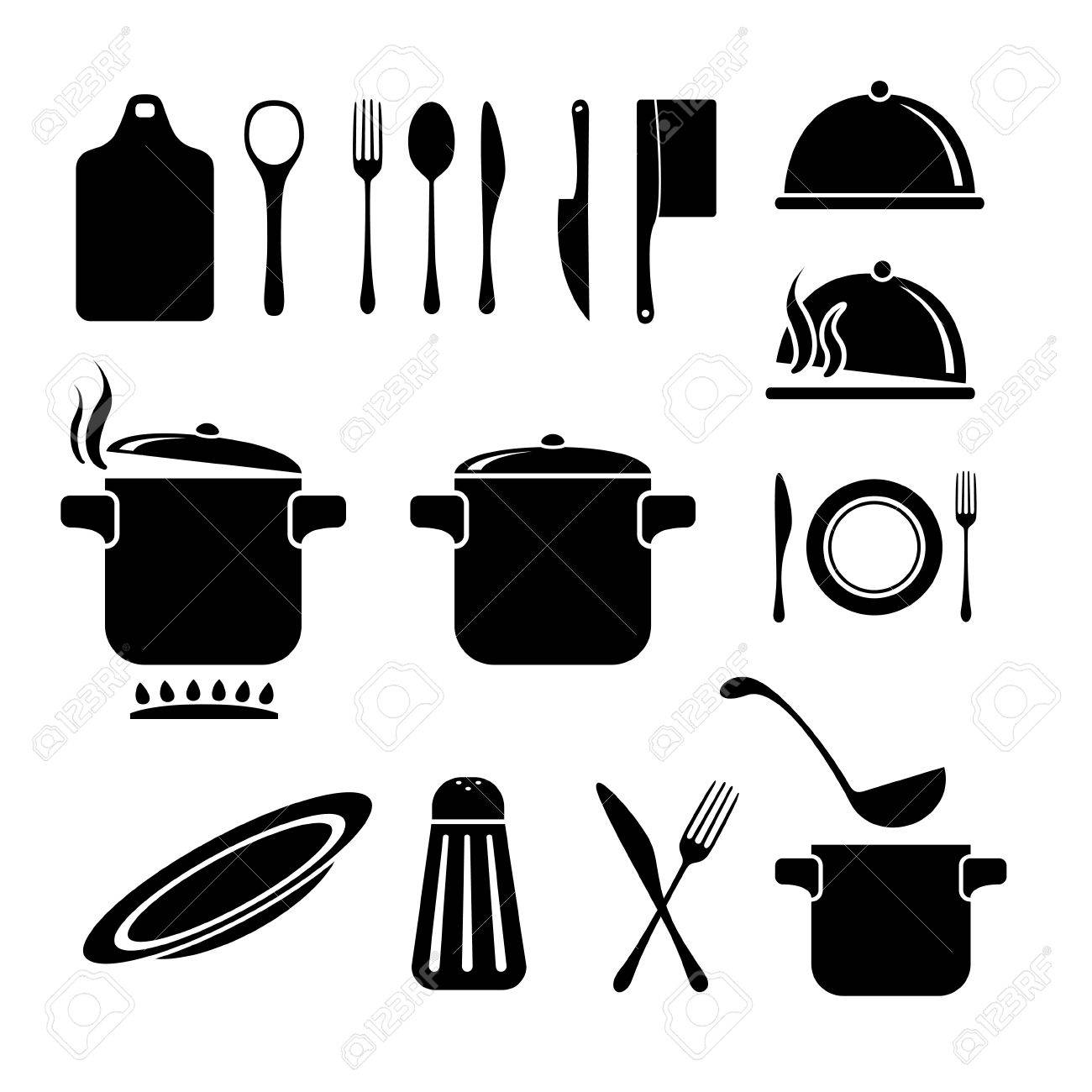 Kitchen Vector Icons Set Royalty Free Cliparts Vectors And Stock Illustration Image 43736134