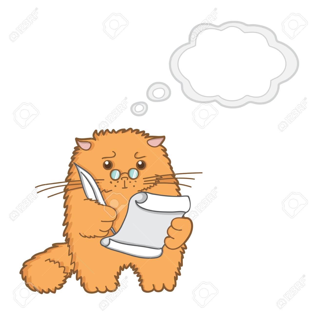 funny cartoon cat Stock Vector - 20840368